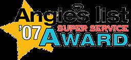 Angie's List Super Service Award Winner 2007
