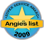 Angie's List Super Service Award Winner 2009