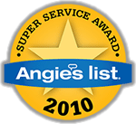 Angie's List Super Service Award Winner 2010
