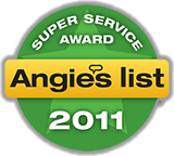 Angie's List Super Service Award Winner 2011