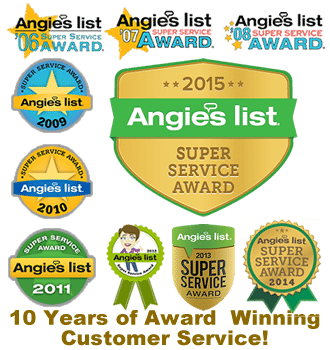 Angies List Super Service Award Winner 10 Years in a Row