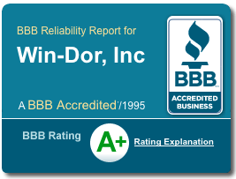 Win-Dor BBB A+ Rating