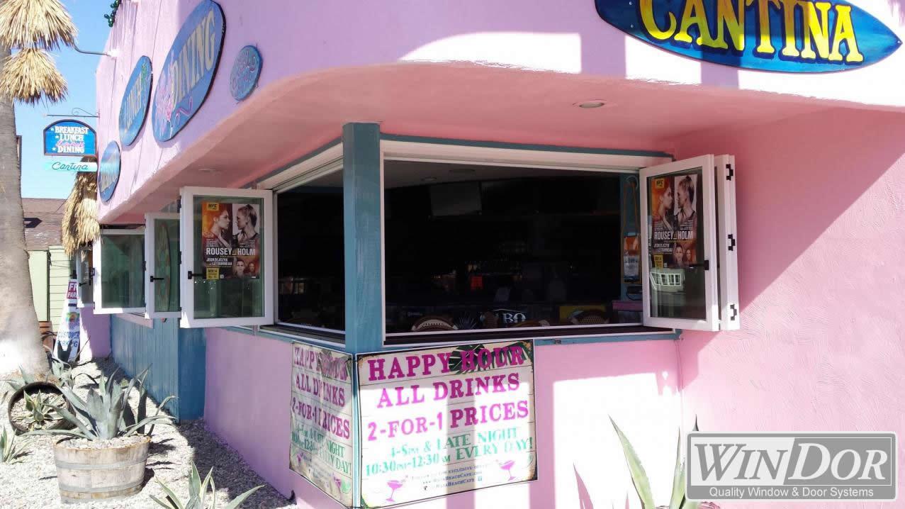 Win-Dor Folding Windows and Baja Beach Cafe in Newport Beach, CA