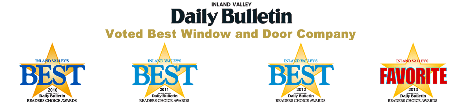 Inland Empire Daily Bulletin Readers Choice - Best Window and Door Company