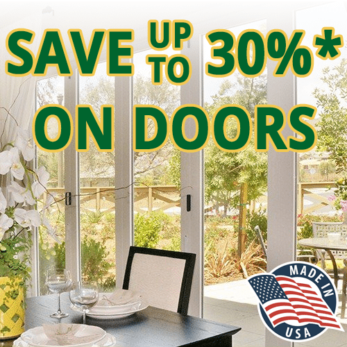 Save up to 30% on new replacement exterior doors!