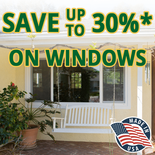 Save up to 30% on new replacement windows!