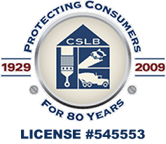 California State Licensing Board #545553